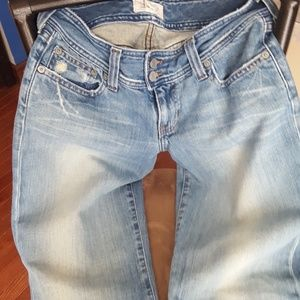 Abercrombie & Fitch Distressed WideLeg Flare Jeans
